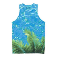 Tanks: Neff Palm Water Tank - Blue - Blue Clothing Land Mens Neff
