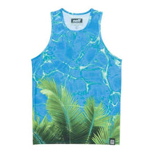 Tanks: Neff Palm Water Tank - Blue - Neff / Blue / M / Blue Clothing Land Mens Neff | Occn-Whiteline-15P32020Blue-1