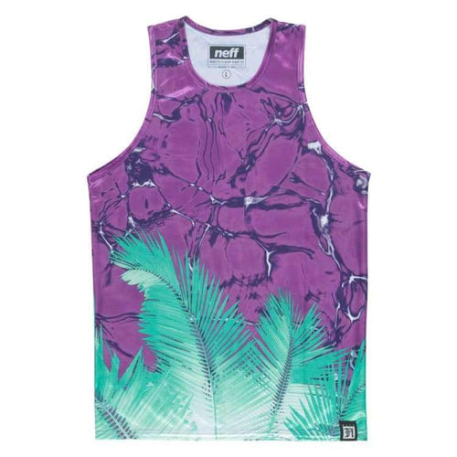 Tanks: Neff Palm Water Tank - Purple - Neff / Purple / M / Clothing Land Mens Neff On Sale | Occn-Whiteline-15P32020Purplem-1