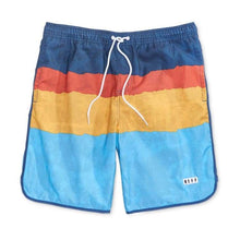 Shorts / Board: Neff Ripped Stripe Hot Tub Short - Blue - 2017 Blue Board Shorts Clothing Mens