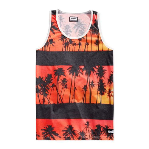 Tanks: Neff Sunset Tank - Orange - Neff / Orange / Xl / Clothing Land Mens Neff On Sale | Occn-Whiteline-15P32016Orangexl