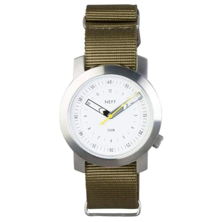 Watches / Casual: Neff Tactical Fw1516 - Silver / Olive - Neff / Silver / Olive / 1516 Accessories Land Mens Neff |