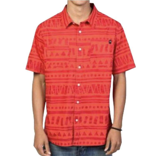 Shirts Ss / Casual: Neff Tribin Ss Woven Sp17 - Red - Neff / Red / L / 2017 Clothing Land Mens Neff | Occn-Whiteline-17P50002Redd L
