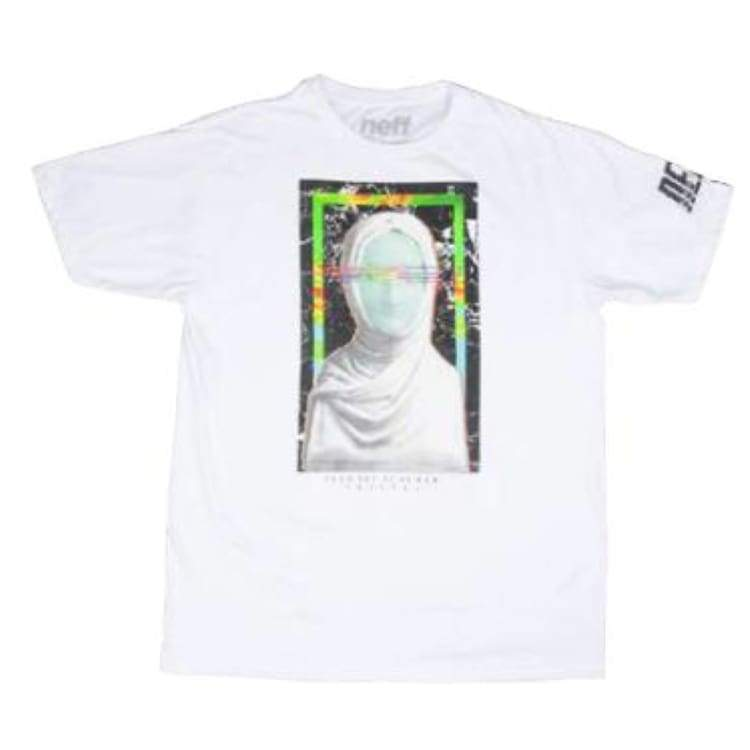 Tees / Short Sleeve: Neff Upper Tee - White - Neff / L / White / 2015 Clothing Land Mens Neff | Occn-Whiteline-15H29016 White