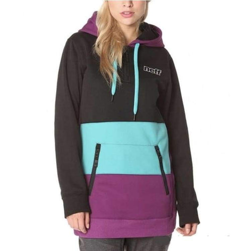 Hoodies & Sweaters: Neff Womens Daily Shred Hoodie Fw1516 - Black/teal/purple - M / Black/teal/purple / Neff / 1516 Black/teal/purple