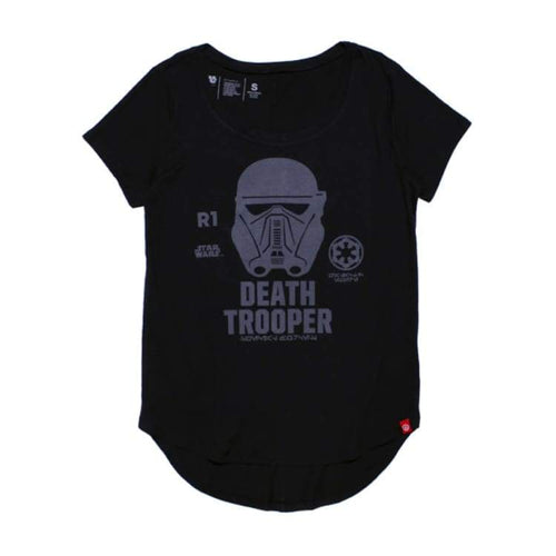 Tees / Short Sleeve: Neff Womens R01 Trooper Jrs Tee - Black [Star War] - Neff / S / Black / Black Clothing Land Neff On Sale |