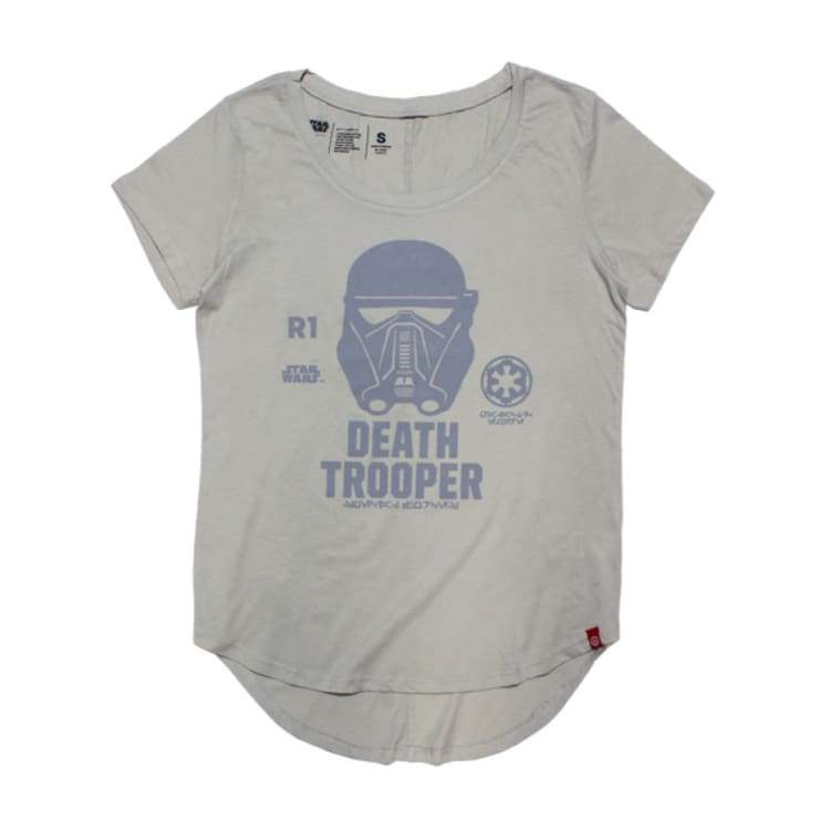 Tees / Short Sleeve: Neff Womens R01 Trooper Jrs Tee - Grey [Star War] - Neff / M / Grey / Clothing Grey Land Neff On Sale |