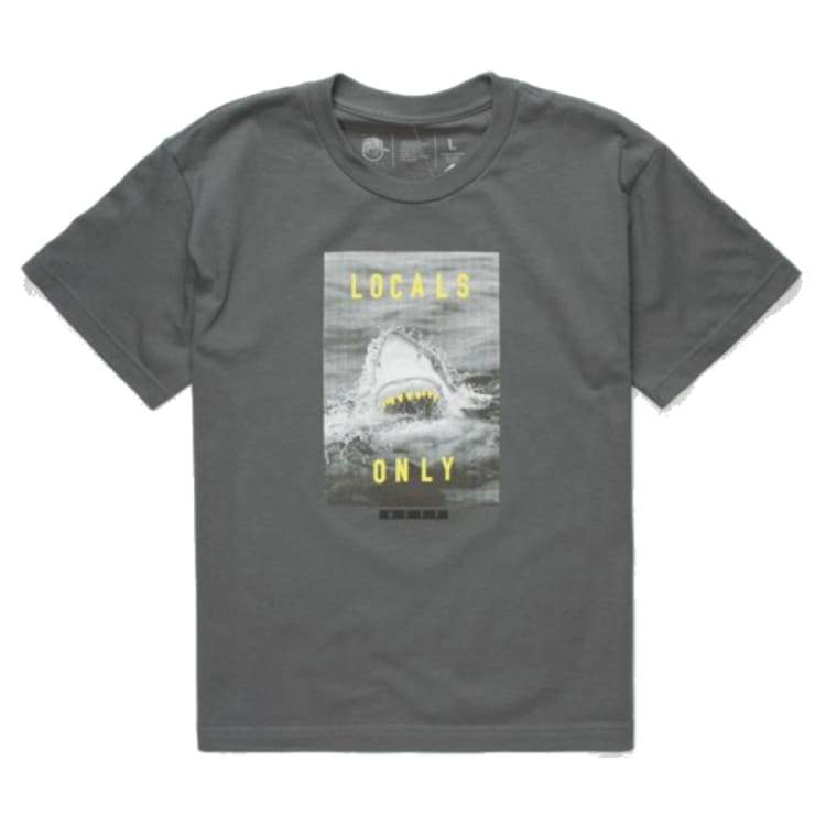 Tees / Short Sleeve: Neff Youth Bite Tee - Charcoal - Neff / M / Charcoal / 1718 Charcoal Clothing Kids Land | Occn-Whiteline-17F31006
