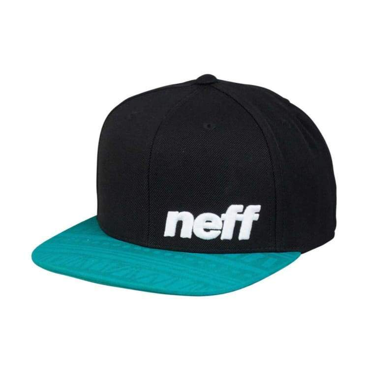 Headwear / Caps: Neff Youth Daily Pattern Cap - Black/tribin - Neff / Free / Teal/black / 2017 Accessories Cap Head & Neck Wear Headwear /
