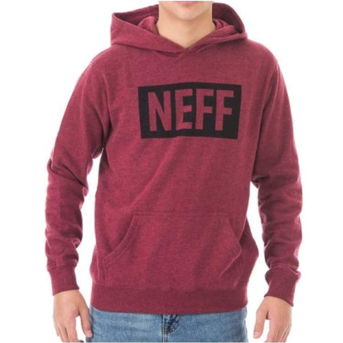 Hoodies & Sweaters: Neff Youth New World Hoodie - Maroon Heather - Neff / M / Maroon Heather / 1718 Clothing Hoodies & Sweaters Ice & Snow
