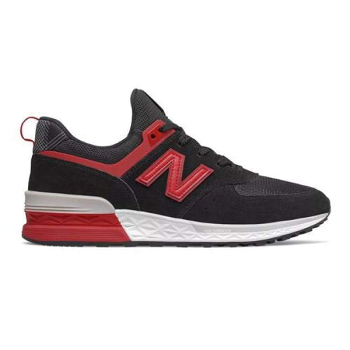 Shoes / Soccer: New Balance 574 Liverpool Sports Lifestyle Shoes Ms574Lf - New Balance / Us: 5.5 / Black/red / 1819 Black/red Football