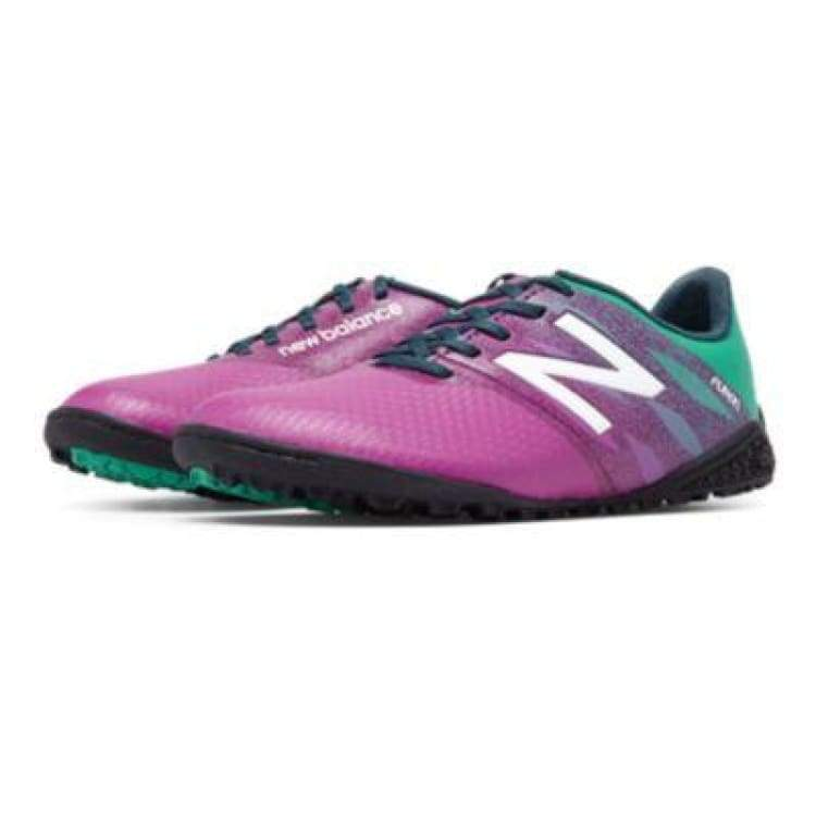 Shoes / Soccer: New Balance Junior Furon Dispatch Tf Kids Jsfudtpg - New Balance / Us: 4.5 / Deep Orchid/serene Green/imperial/baltic / Deep