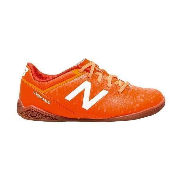 Shoes / Soccer: New Balance Junior Visaro Control Indoor Jsvrcilf - New Balance / Us: 3.5 / Orange / Football Footwear Kids Land New Balance
