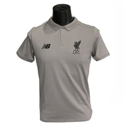 Polos / Short Sleeve: New Balance Lfc 2018 Short Sleeve Tee Mt833432F Grey - New Balance / Grey / S / 1819 Clothing Football Grey Land |