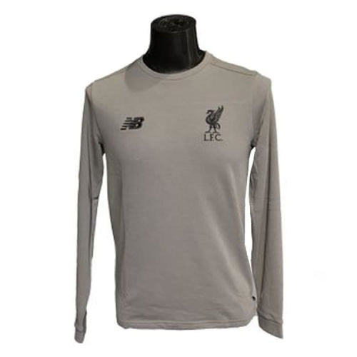 Tees / Long Sleeve: New Balance Lfc 2018 Tee Mt833434F Grey - New Balance / Grey / S / 1819 Clothing Football Grey Land |