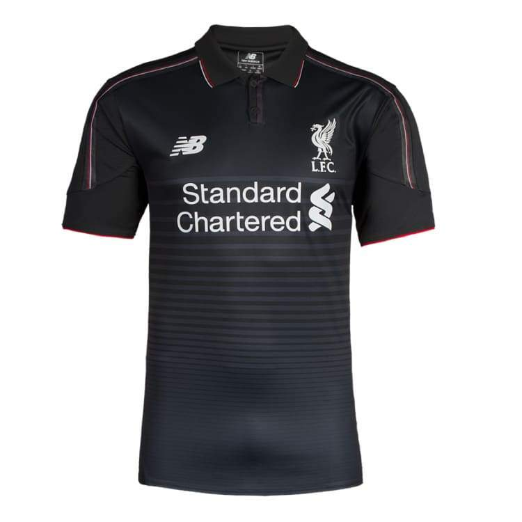 Jerseys / Soccer: New Balance Liverpool 15/16 (3Rd) S/s Kids Wstj550 - New Balance / S / Black / 1516 Black Clothing Football Jerseys |