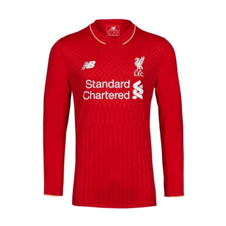 Jerseys / Soccer: New Balance Liverpool 15/16 (H) L/s Wstm543 - New Balance / S / Red / 1516 Clothing Football Home Kit Jerseys |
