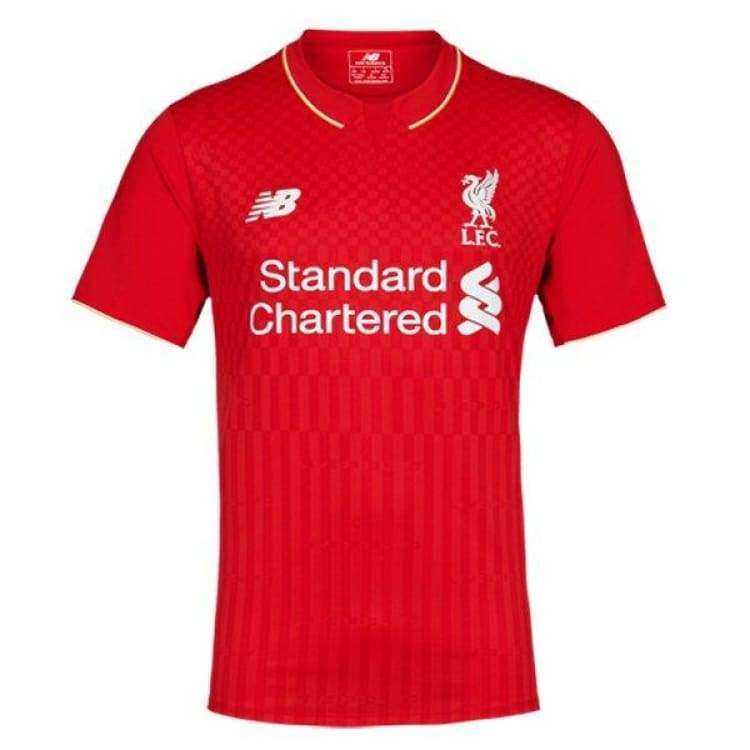 Jerseys / Soccer: New Balance Liverpool 15/16 (H) S/s Kids Wstj542 - New Balance / S / Red / 1516 Clothing Football Home Kit Jerseys |
