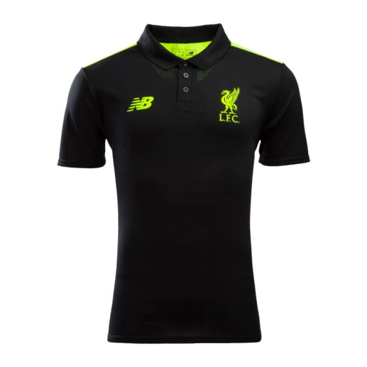 Polos / Short Sleeve: New Balance Liverpool 16/17 Training Jersey Bk Mt630028 - New Balance / S / Black / 1617 Black Clothing Football Land