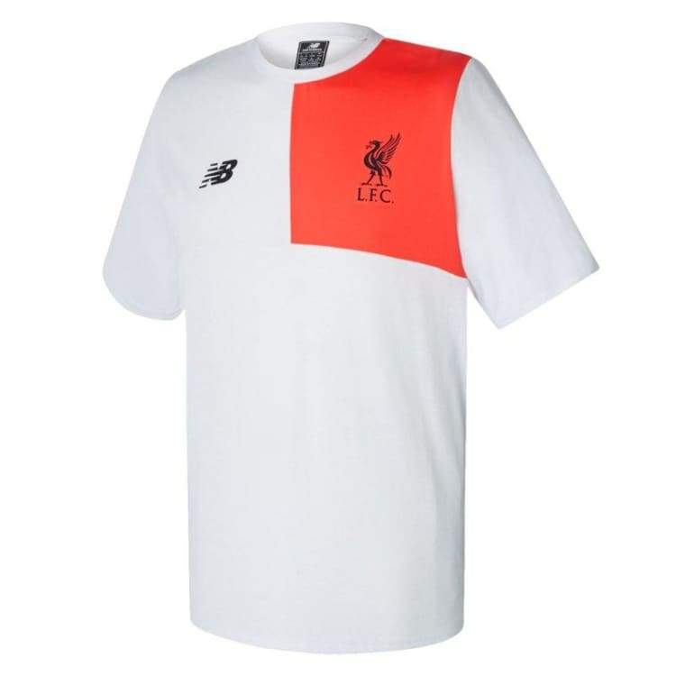 Tees / Short Sleeve: New Balance Liverpool 16/17 Training Tee Mt630022 Wht - New Balance / S / White / 1617 Clothing Football Land Liverpool