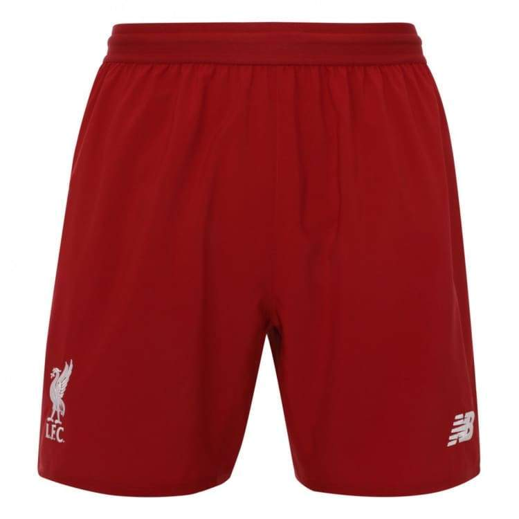 Shorts / Soccer: New Balance Liverpool 18/19 (H) Shorts - Ms830011 - New Balance / S / Red / 1819 Clothing Football Home Kit Land |