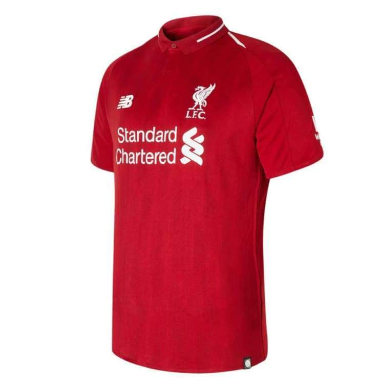 Jerseys / Soccer: New Balance Liverpool 18/19 (H) S/s Jersey - Mt8300000 - New Balance / S / Red / 1819 Clothing Football Home Kit Jerseys |