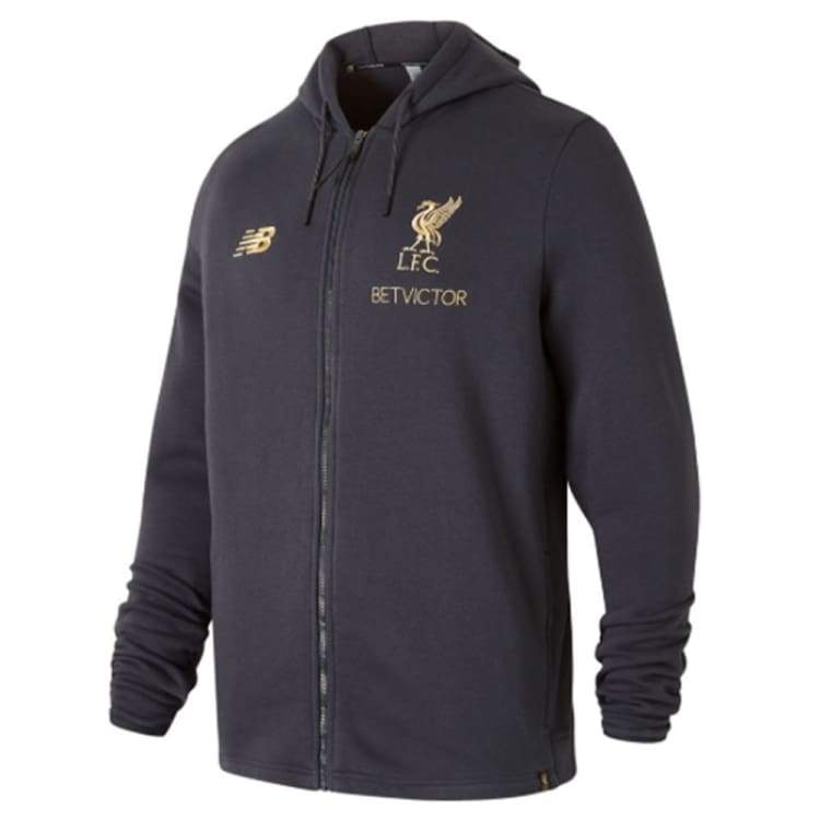 New Balance Liverpool Fc 18 19 Managers Hoodie Mt831285p