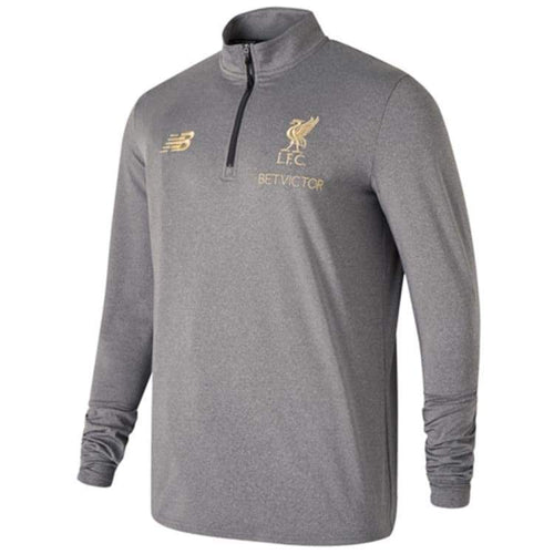 Base Layers / Top: New Balance Liverpool Fc 18/19 Managers Midlayer - Mt831284 - New Balance / S / Grey / 1819 Base Layers Base Layers / Top