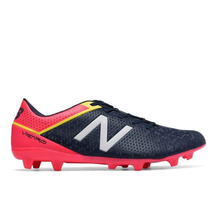 Cleats / Soccer: New Balance Visaro Control Fg Msvrcfgc - New Balance / Us: 7.5 / Black/red / Black/red Cleats / Soccer Football Footwear