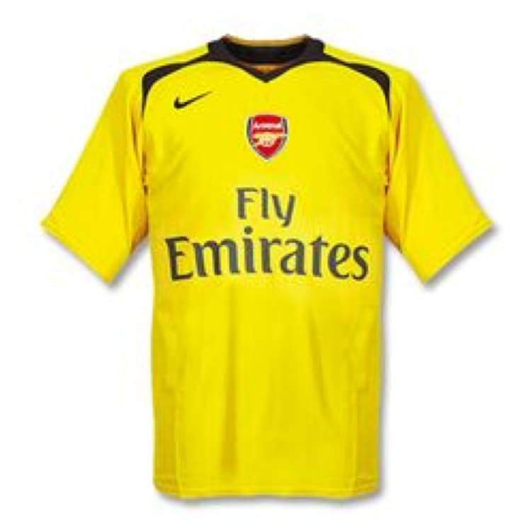 Jerseys / Soccer: Nike Arsenal 06/07 (A) S/s Jersey - Nike / Xl / Yellow / 0607 Arsenal Away Kit Clothing Football |
