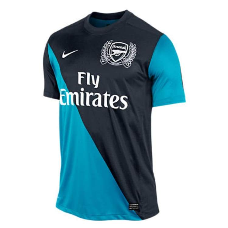 Jerseys / Soccer: Nike Arsenal 11/12 (A) S/s 423983-472 - Nike / L / Blue / Arsenal Away Kit Blue Clothing Football |