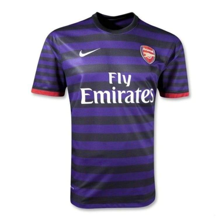Jerseys / Soccer: Nike Arsenal 12/13 (A) S/s Jersey 479304-547 - Nike / L / Purple / Arsenal Away Kit Clothing Football Jerseys |
