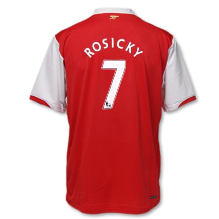 Jerseys / Soccer: Nike Arsenal 2006-2008 (H) S/S 146769-616 #7 ROSICKY - Nike / L / Red / 0608, ARSENAL, Clothing, Football, Home Kit |