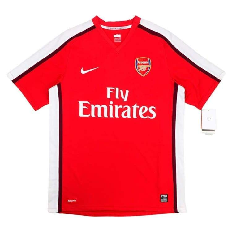 Jerseys / Soccer: Nike Arsenal 2008-2010 (H) S/s 287535-614 - Nike / M / Red / 0810 Arsenal Clothing Football Home Kit |