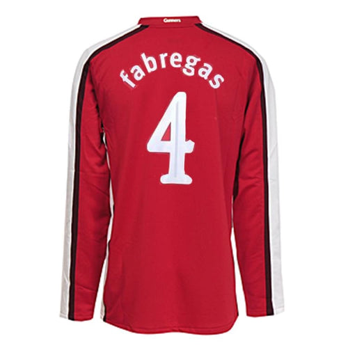 Jerseys / Soccer: NIKE Arsenal FC 08/10(H) L/S jersey 287536-614 #4 FABREGAS - NIKE / Red / XL / 0810, 2008, 2009, 2010, ARSENAL |