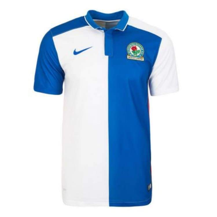 Jerseys / Soccer: Nike Blackburn Rovers Fc 15/16 (H) S/s 686346-463 - S / Blue / White / Nike / Blue / White Clothing Football Jerseys