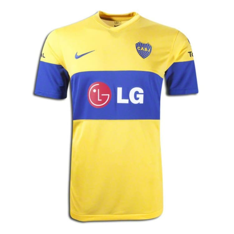 Jerseys / Soccer: Nike Boca Junior 11/12 Away S/s Jersey Ssarg01110A - Nike / Kids: S / Yellow / 1112 Away Kit Boca Junior Clothing Football