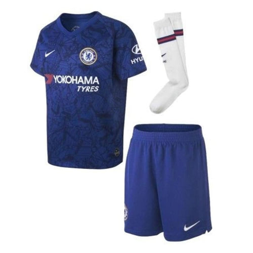 Jerseys / Soccer: NIKE CHELSEA 19/20 (H) LITTLE KIDS SET AO3050-495 - Nike / Kids: XS / Blue / 1920 Blue CHELSEA Clothing Football |
