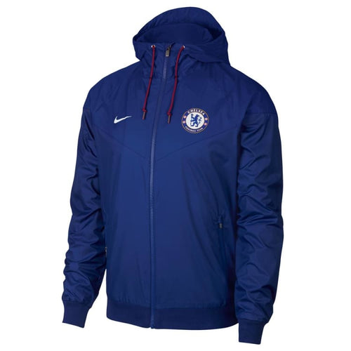 Jackets / Windbreaker: NIKE CHELSEA Authentic Windrunner Jacket 919580-495 - Nike / S / Blue / 1819 Blue CHELSEA Clothing Football |