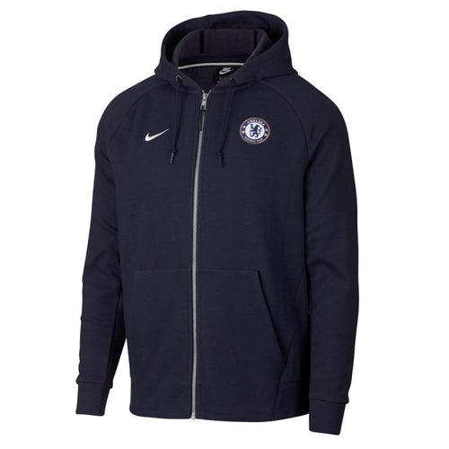 Hoodies & Sweaters: Nike Chelsea Fc Club Hoodie 919598-451 - Nike / S / Navy / Chelsea Clothing Football Hoodies & Sweaters Hoodies &