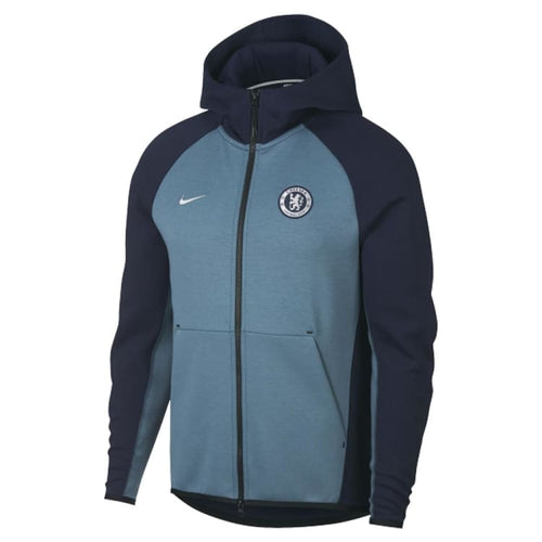 Hoodies & Sweaters: Nike Chelsea Fc Full-Zip Tech Fleece Ah5198-455 - Nike / S / Blue / 1819 Blue Chelsea Clothing Football |