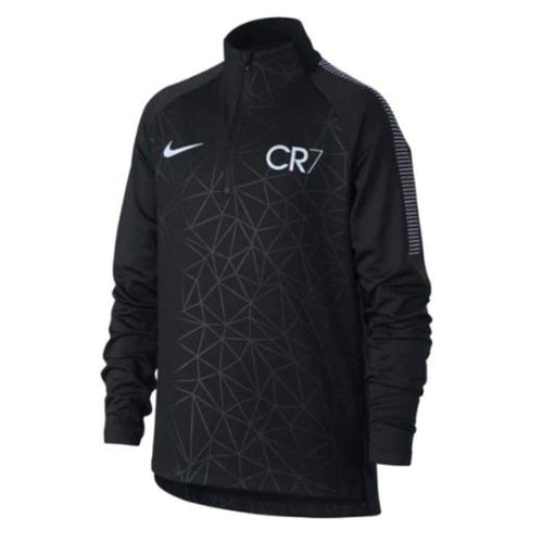 Tops / Warm Up: Nike Dry Cr7 Dry Squad Top Youth 882723-010 - Nike / Kids: Xs / Black / Black Clothing Cr7 Football Kids |