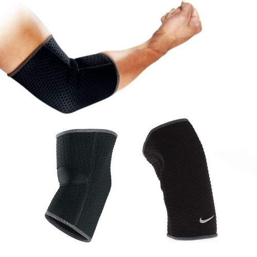 Protectors / Elbow: Nike Elbow Sleeves Black/dark 9337010020 - Nike / M / Black / Basketball Black Fitness & Exercise Gear Golf |