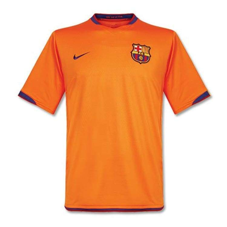 Jerseys / Soccer: Nike Fc Barcelona 06/07 (A) S/s - Nike / S / Orange / 0607 Away Kit Barcelona Clothing Football | Ochk-Sfalo-Ssspa02060A-S