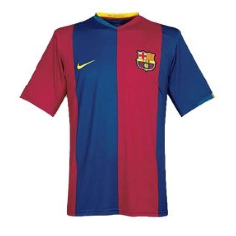 Jerseys / Soccer: Nike Fc Barcelona 06/07 (H) S/s - Nike / Xl / Red / Blue / 0607 Barcelona Clothing Football Home Kit |