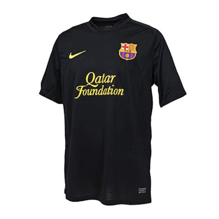 Jerseys / Soccer: Nike Fc Barcelona 11/12 (A) S/s 419880-010 - Nike / S / Black / 1112 Away Kit Barcelona Black Clothing |