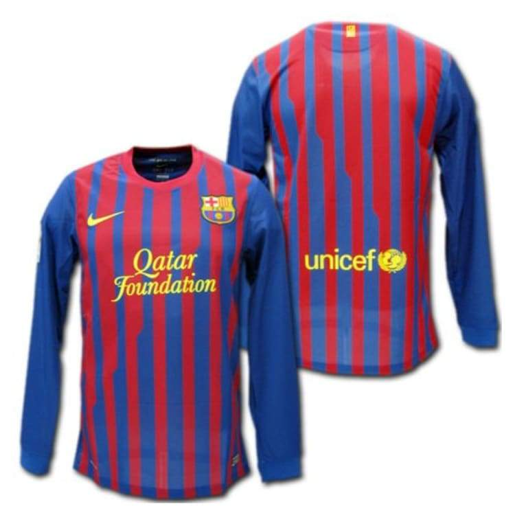 Jerseys / Soccer: Nike Fc Barcelona 11/12 (H) L/s 419878-486 - Nike / S / Blue / Red / 1112 Barcelona Blue / Red Clothing Football |
