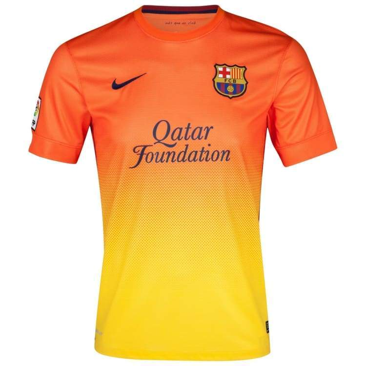 Jerseys / Soccer: Nike Fc Barcelona 12/13 (A) Ss 478326-815 - Nike / S / Orange / 1213 Away Kit Barcelona Clothing Jerseys |