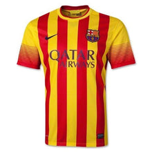 Jerseys / Soccer: Nike Fc Barcelona 13/14 Away S/s Jersey 532823-703 - Nike / S / Red / Yellow / 1314 Away Kit Barcelona Clothing Football |