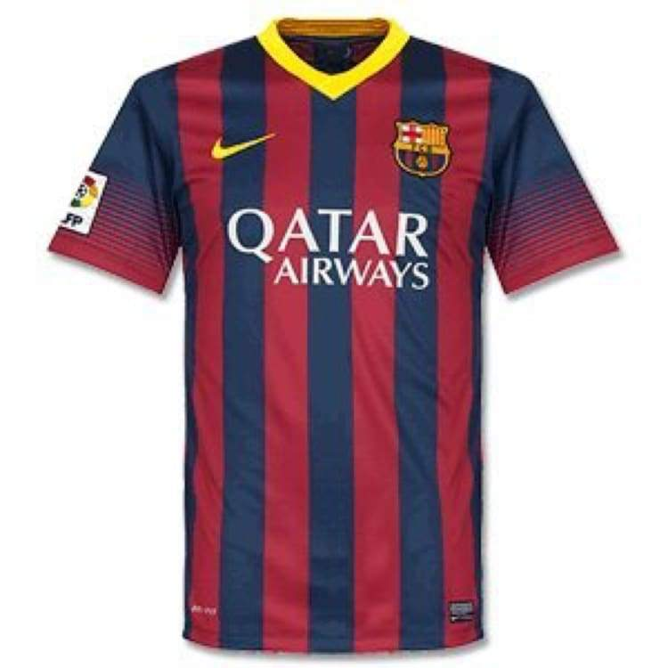 Jerseys / Soccer: Nike Fc Barcelona 13/14 (H) S/s Jersey 532822-413 - M / Red / Nike / 1314 Barcelona Clothing Football Home Kit |